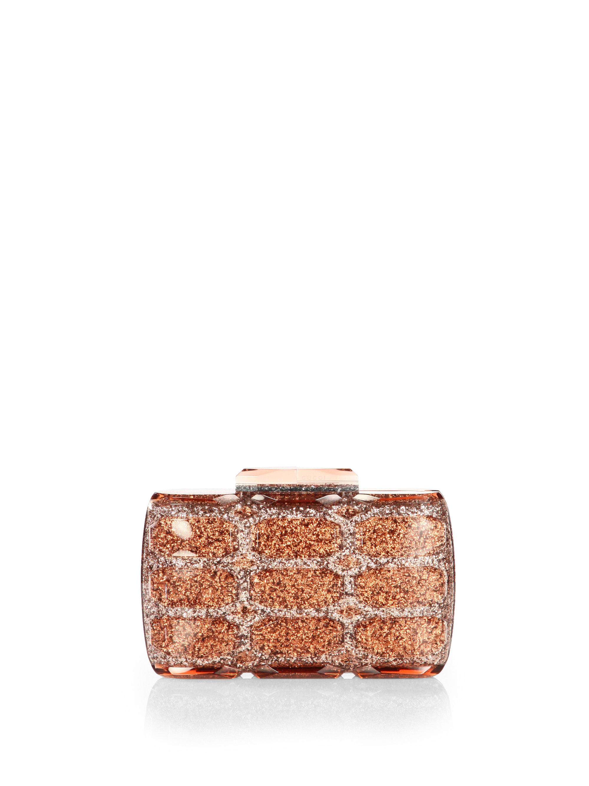Lyst Gucci Aristographic Glittered Plexiglass Evening