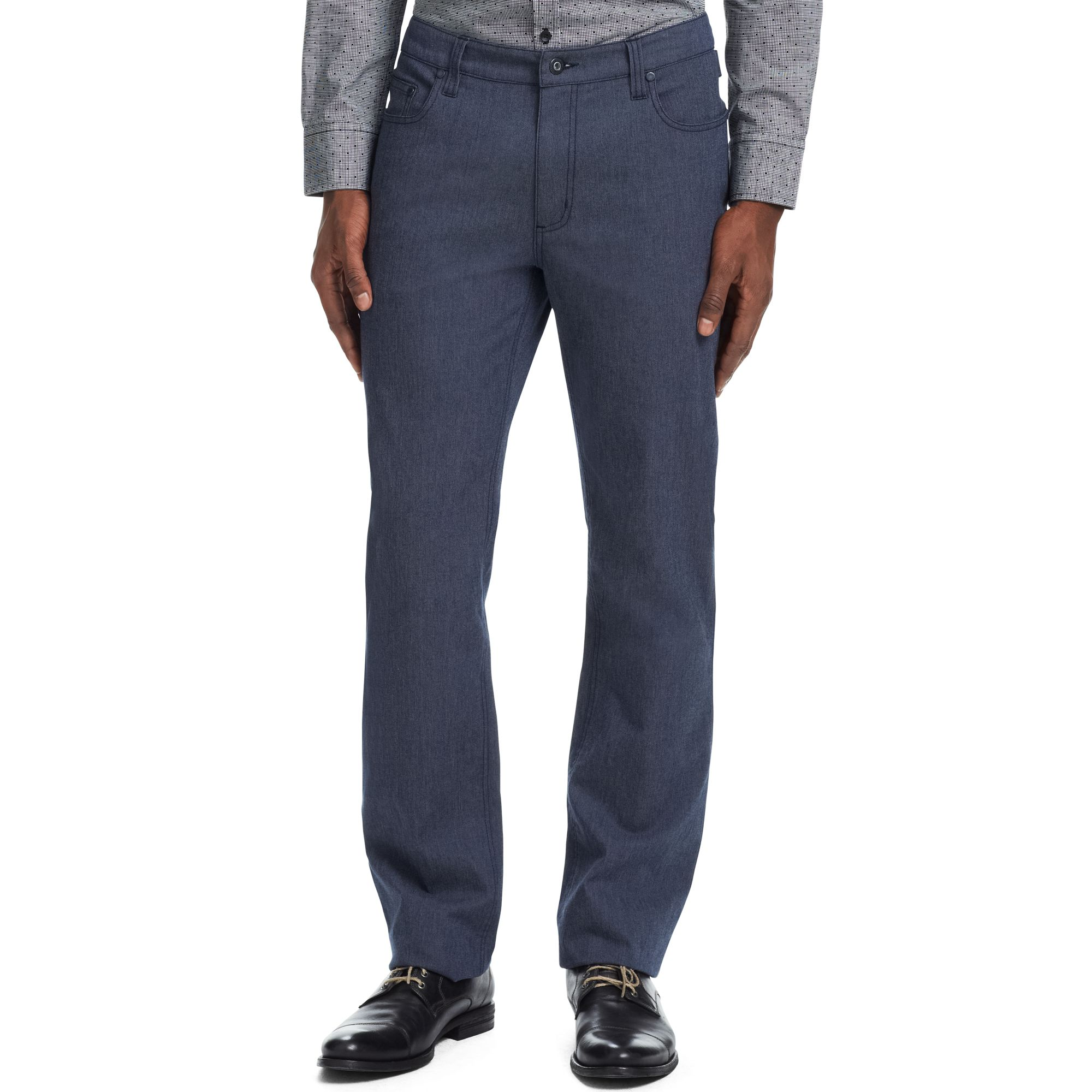 Kenneth Cole Reaction 5 Pocket Pants In Blue For Men Lyst