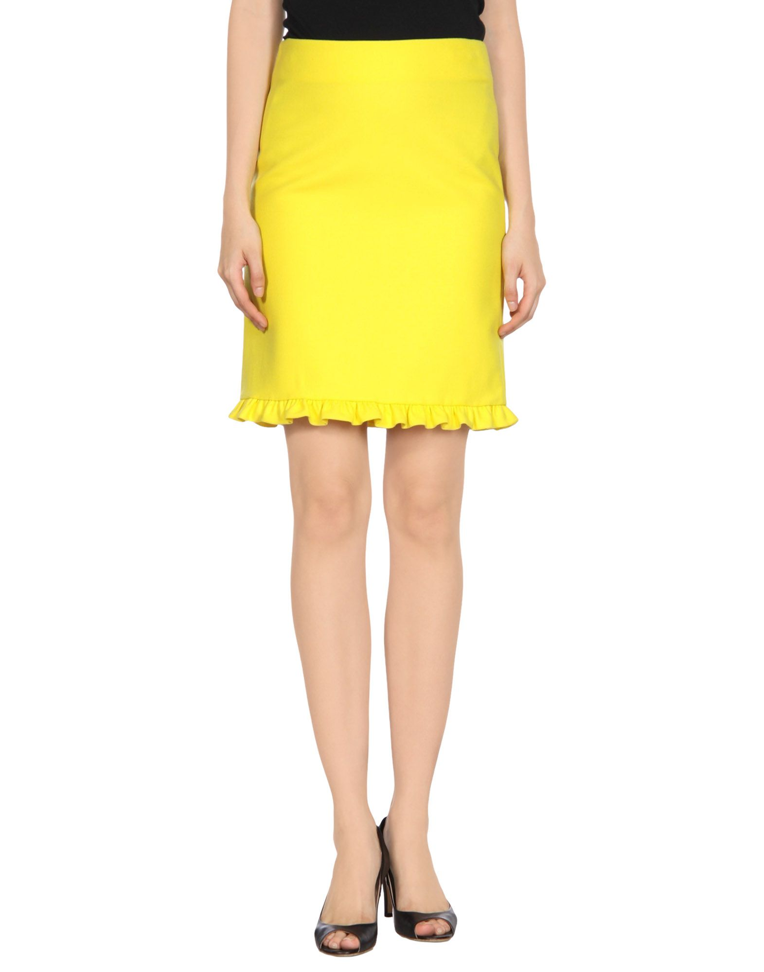 marni knee length skirt in yellow save 54 lyst