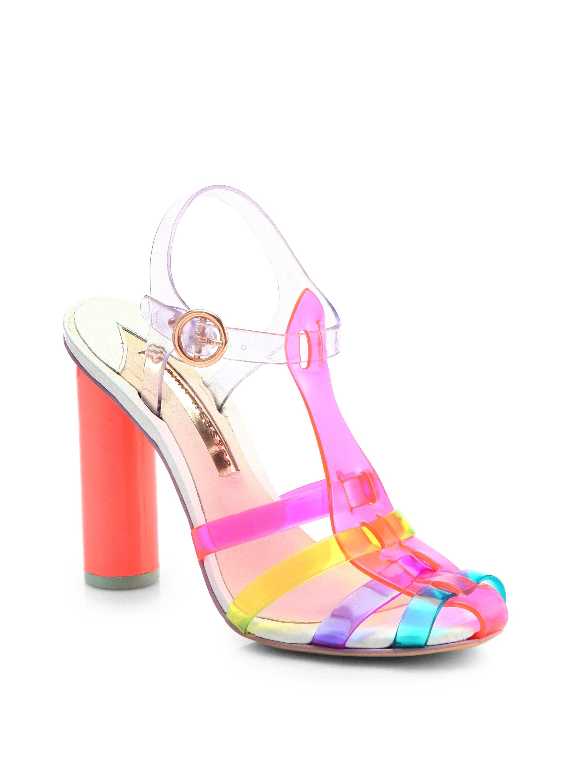 c73ccc902f37 Lyst - Sophia Webster Rosa Jelly Tstrap Sandals