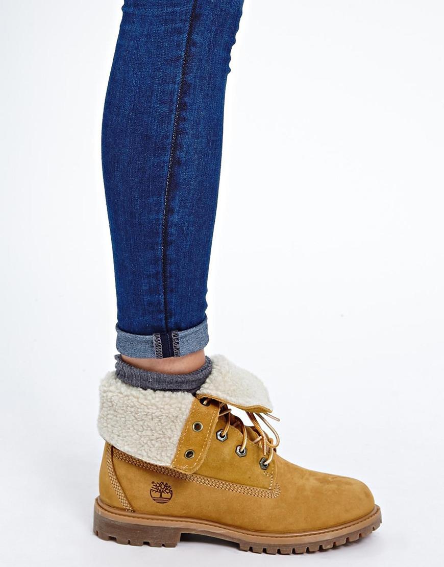 various design best online new photos Authentics Teddy Fleece Fold Down Lace Up Boot