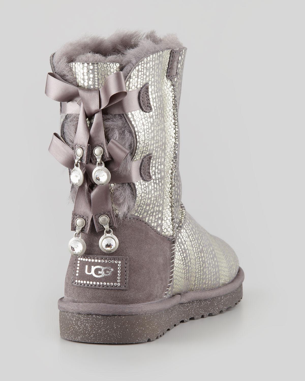 10ca179f3fb UGG Holiday Bailey Bowback Short Boot Gray