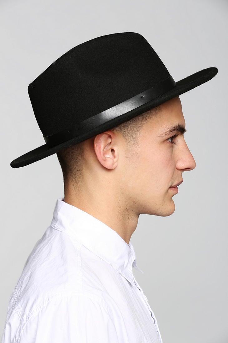 9be1de4ac9 Urban Outfitters Black Brixton Messer Fedora for men