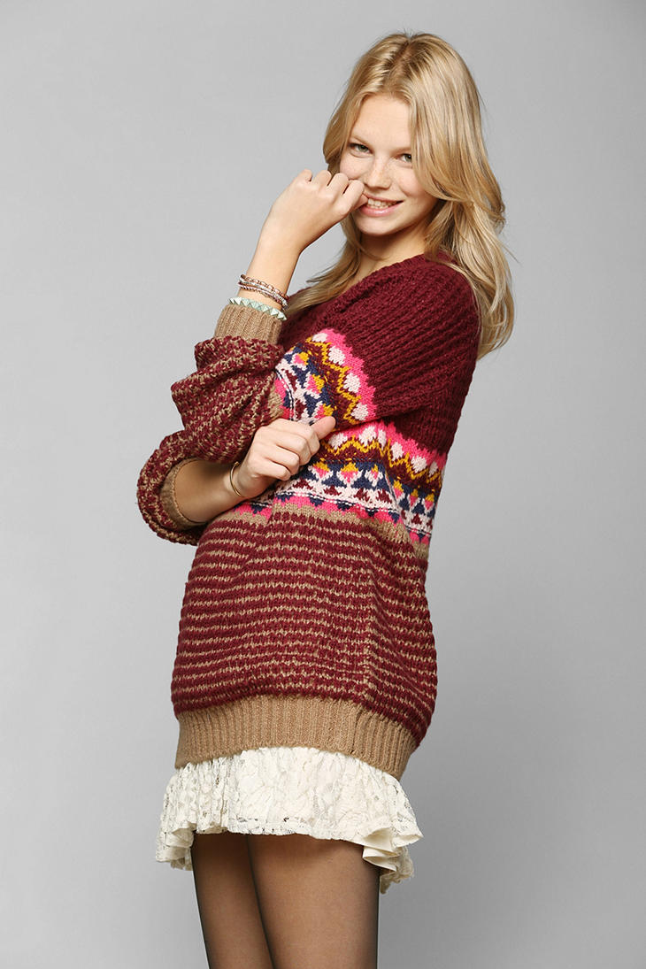 Urban outfitters Coincidence Chance Right Fair Isle Sweater in ...