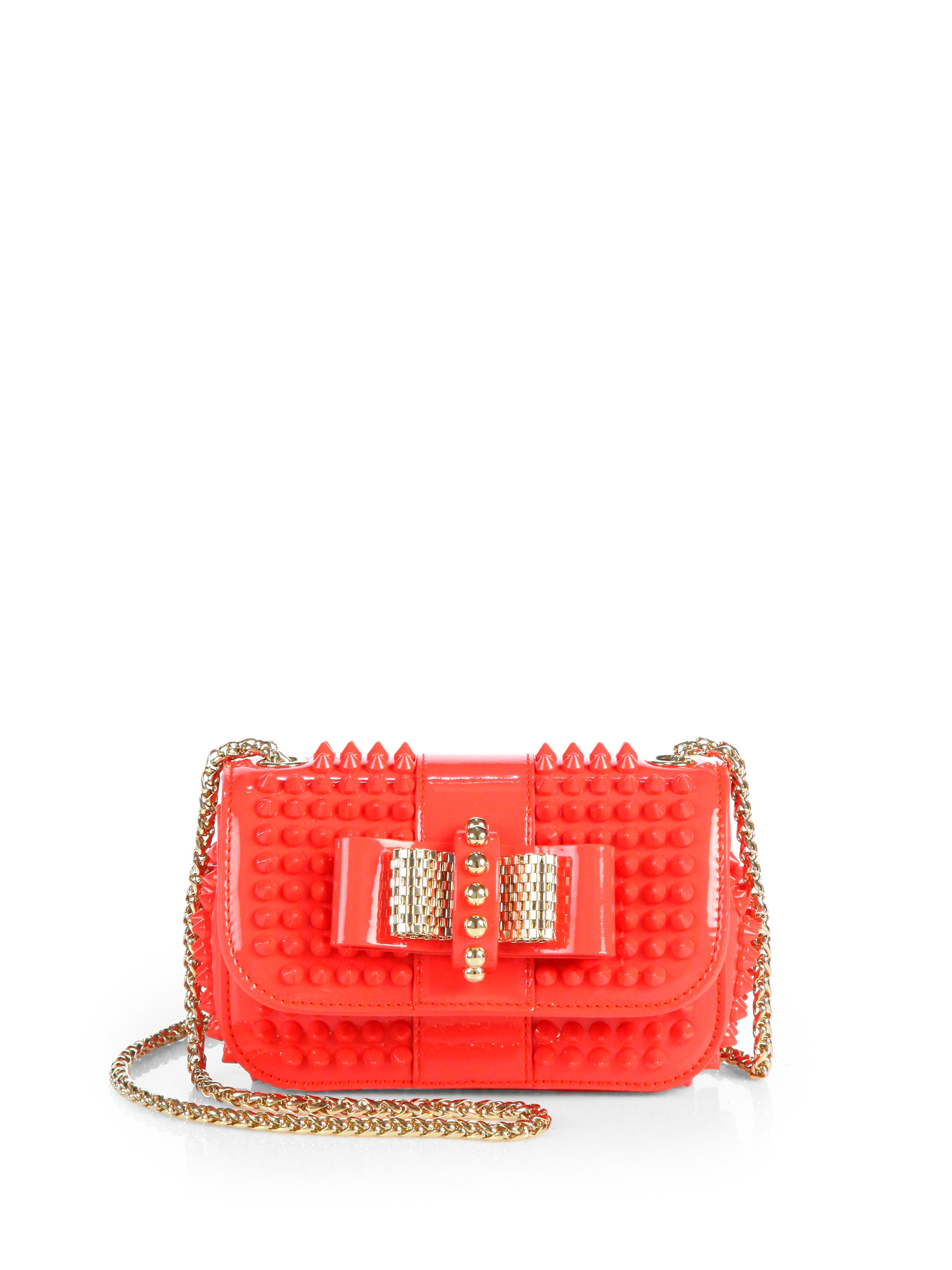Christian Louboutin Red Leather Spiked Sweet Charity