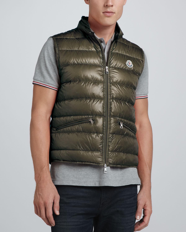 3491dc64e656 Lyst - Moncler Gui Lightweight Puffer Vest in Green for Men