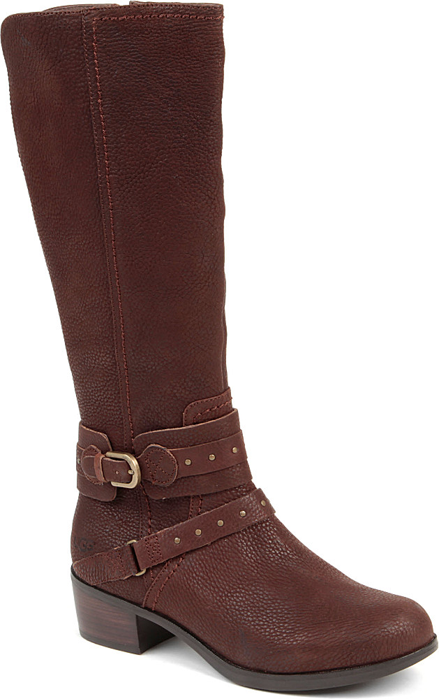 ugg esplanade leather boots in brown brown