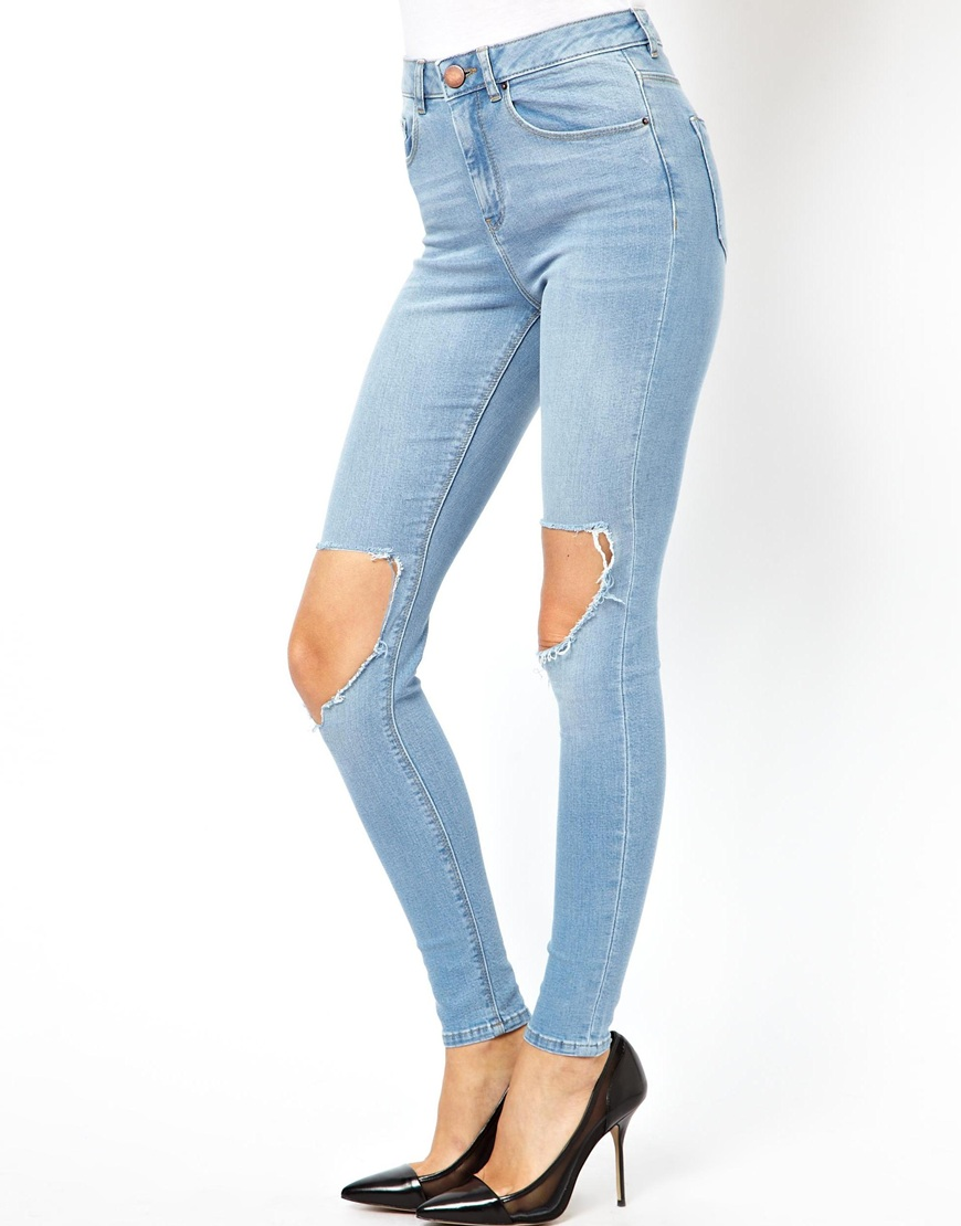 3383fb377ab74 Lyst - ASOS Ridley Supersoft High Waist Ultra Skinny Jeans in ...
