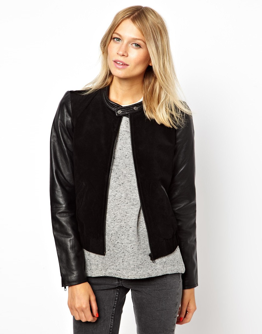 Collection Women S Bomber Leather Jacket Pictures - The Fashions ...