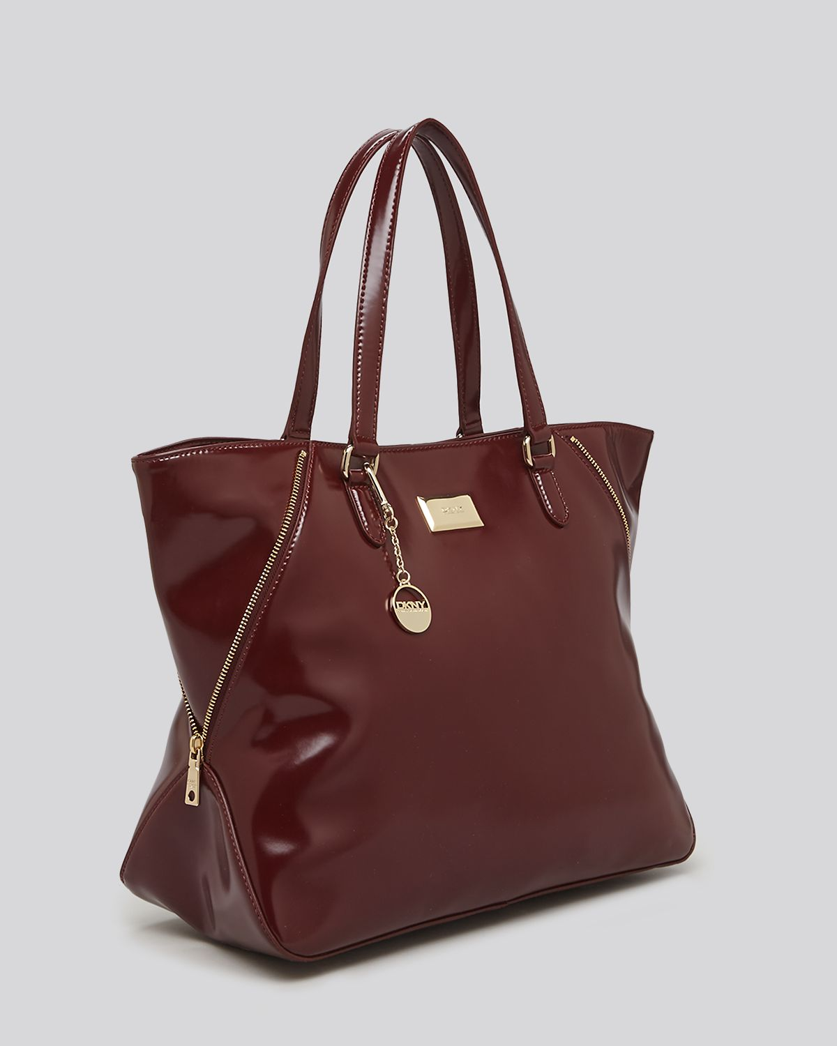 Dkny Hudson Leather Large Zip Top Tote in Brown (Shiraz ...