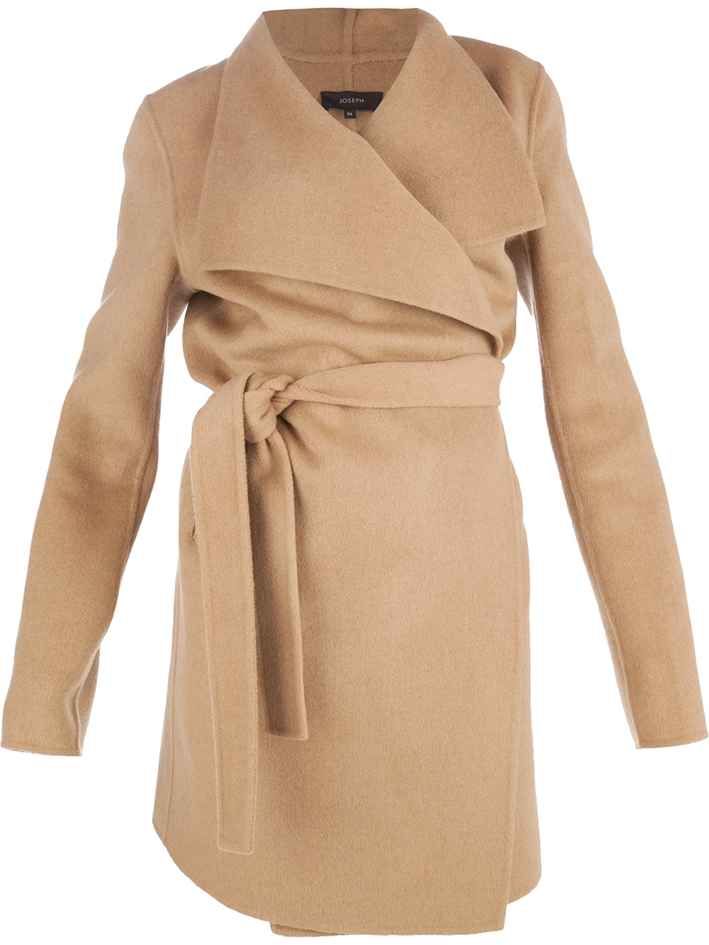 Lyst Joseph Belted Wrap Coat In Brown
