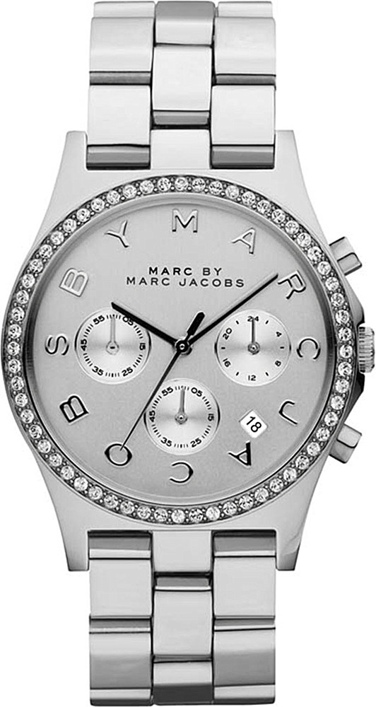 marc by marc jacobs henry glitz silvertoned watch women
