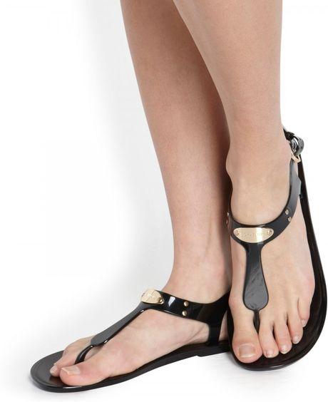 Michael Michael Kors Embellished Flat Sandals In Black Lyst