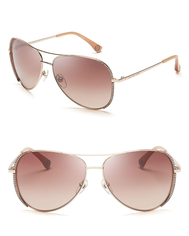 14cf86774d4b Michael Kors Sadie Aviator Sunglasses in Pink - Lyst