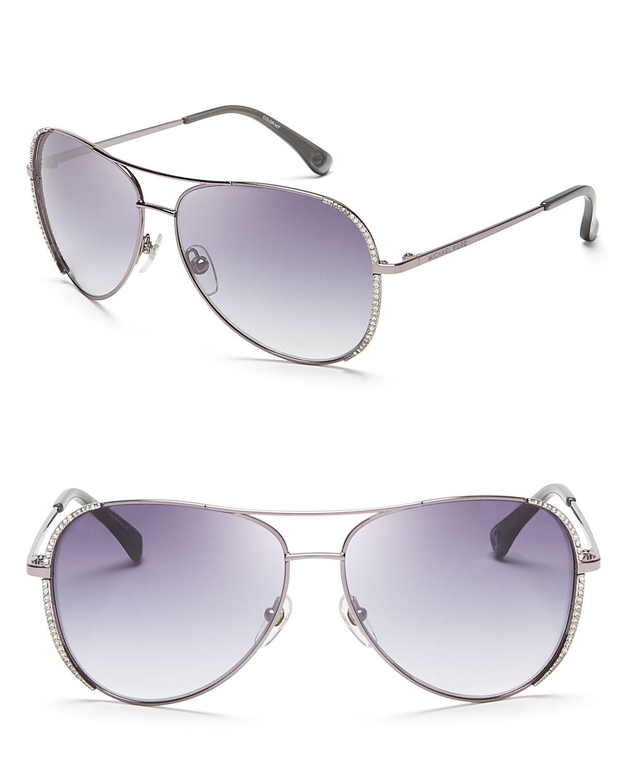 da66d281277b Michael Kors Sadie Aviator Sunglasses in Metallic - Lyst