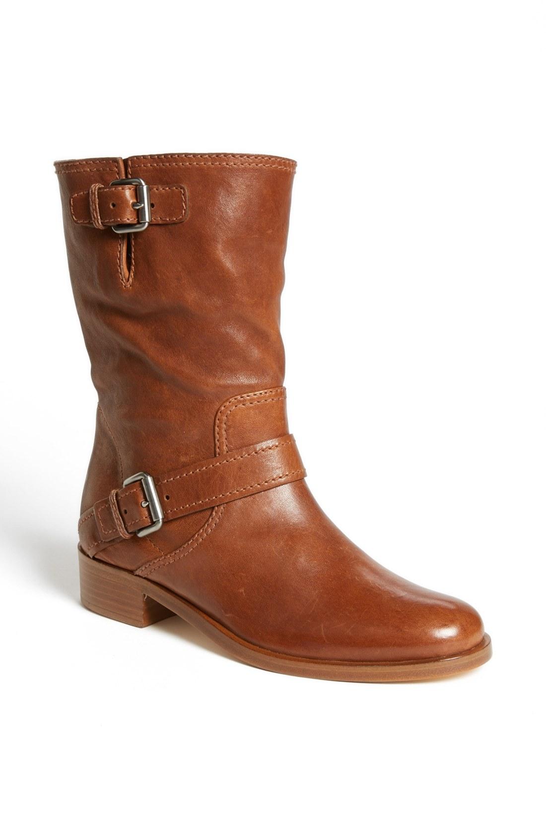 miu miu buckle boot in brown lyst