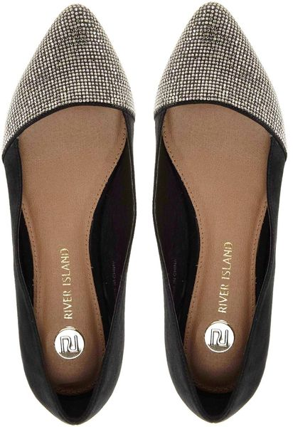 Glitter Pointed Flats Glitter Point Ballerina in