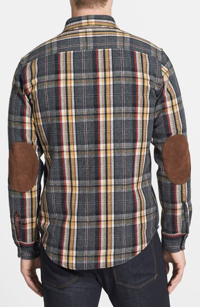 Pendleton pawpine plaid wool flannel shirt in multicolor for Mens wool flannel shirt
