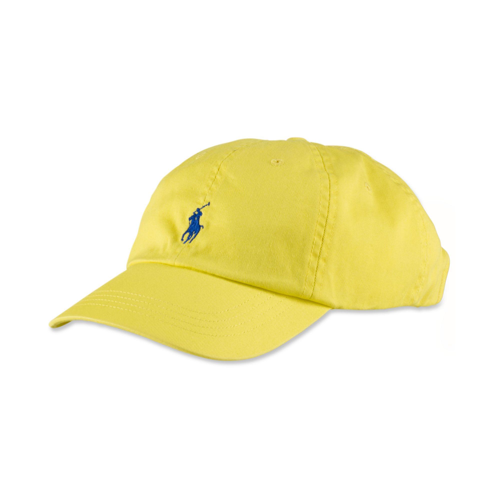 Lyst Ralph Lauren Cap In Yellow For Men