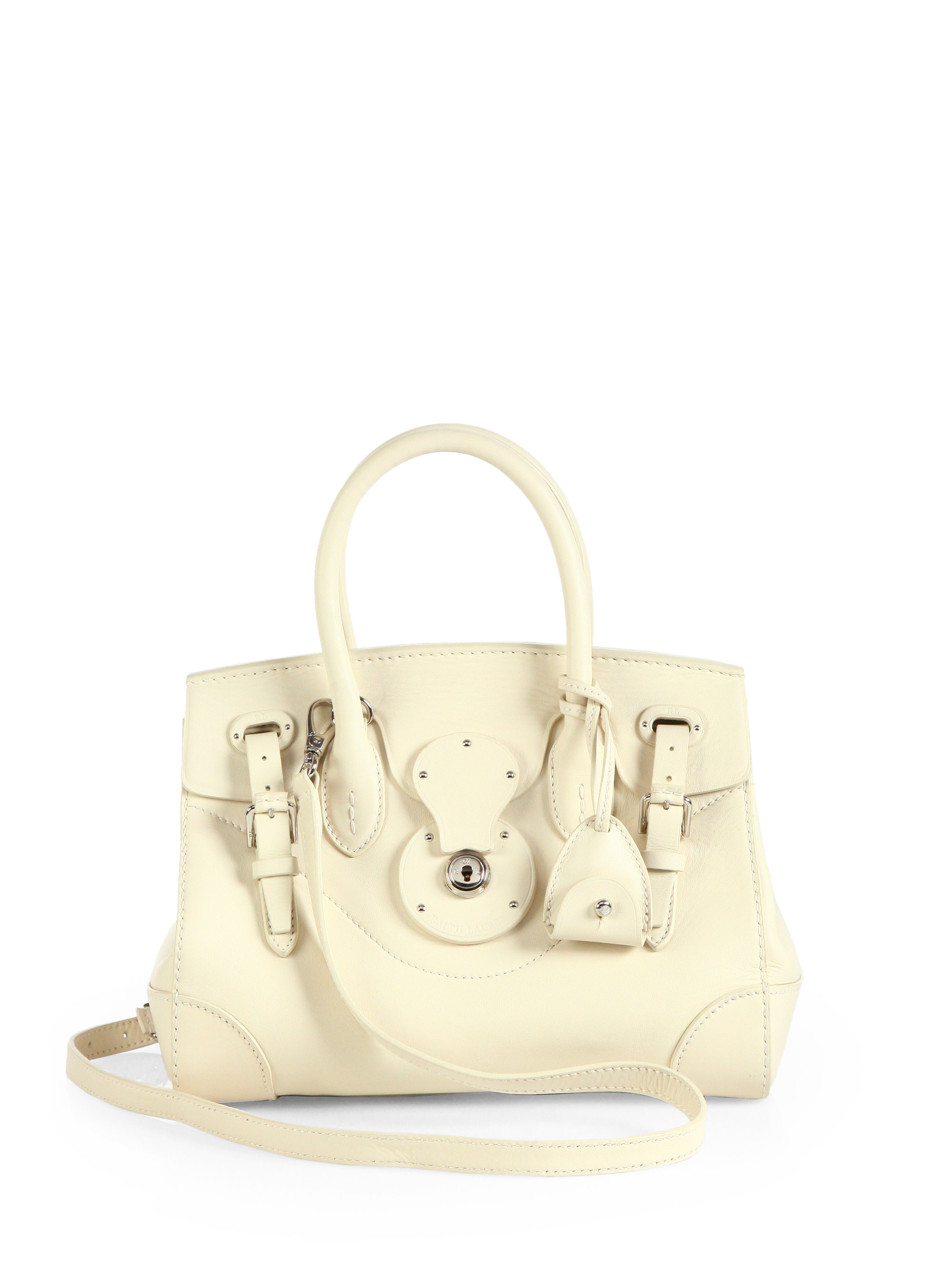 ac3866355290 Lyst - Ralph Lauren Soft Ricky 27 Small Satchel in Natural