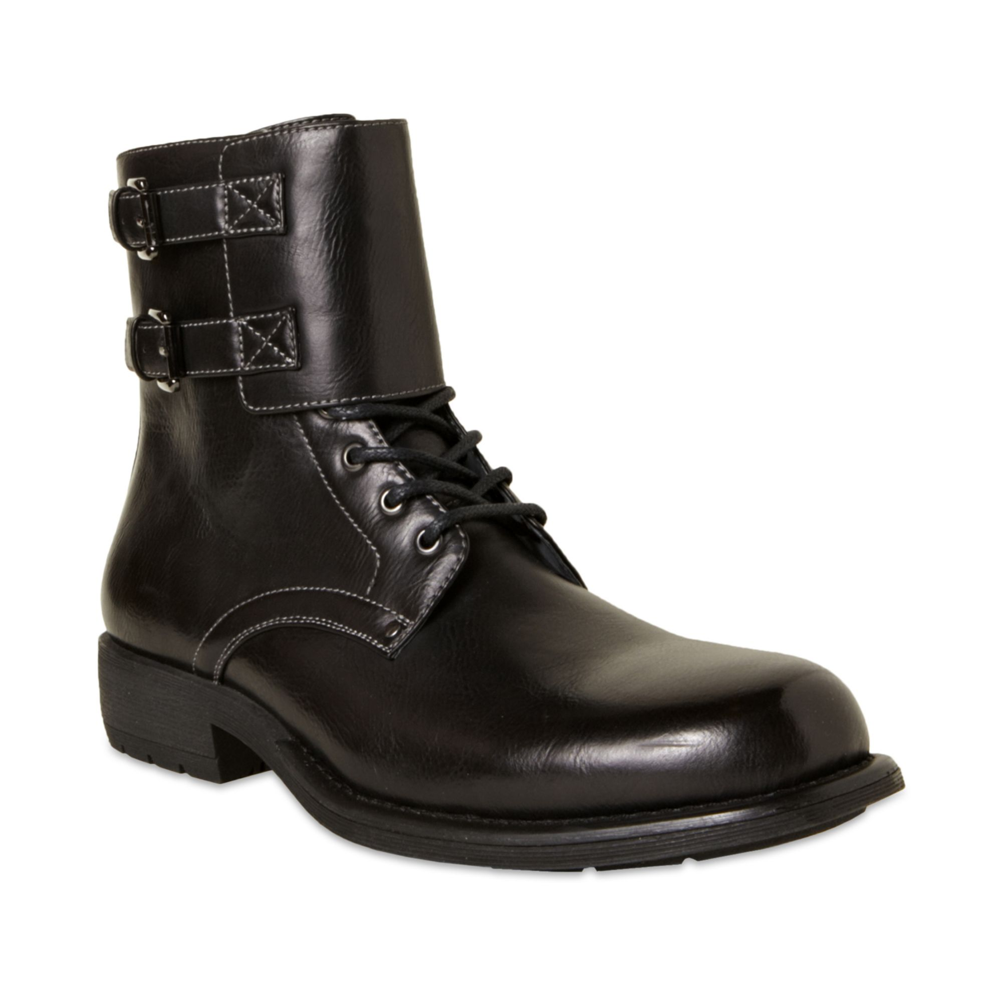 steve madden pello motorcycle boots in black for lyst