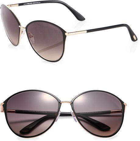 tom ford penelope oversized sunglasses in black black. Black Bedroom Furniture Sets. Home Design Ideas