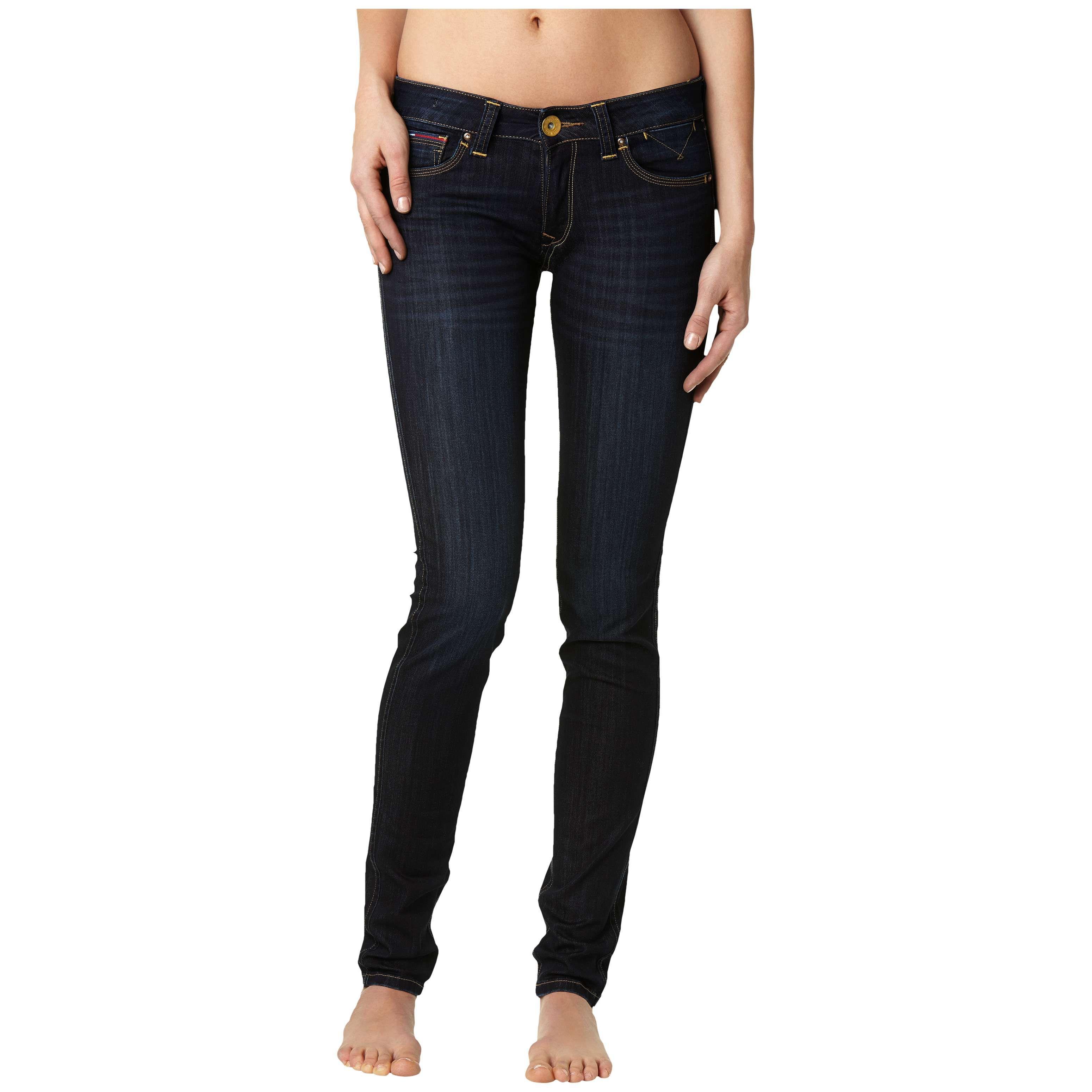 tommy hilfiger sophie stretch jeans in blue navy lyst. Black Bedroom Furniture Sets. Home Design Ideas