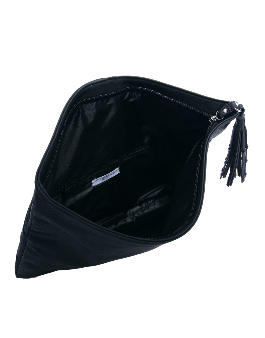 Asos Monochrome Oversized Clutch Bag in Black   Lyst