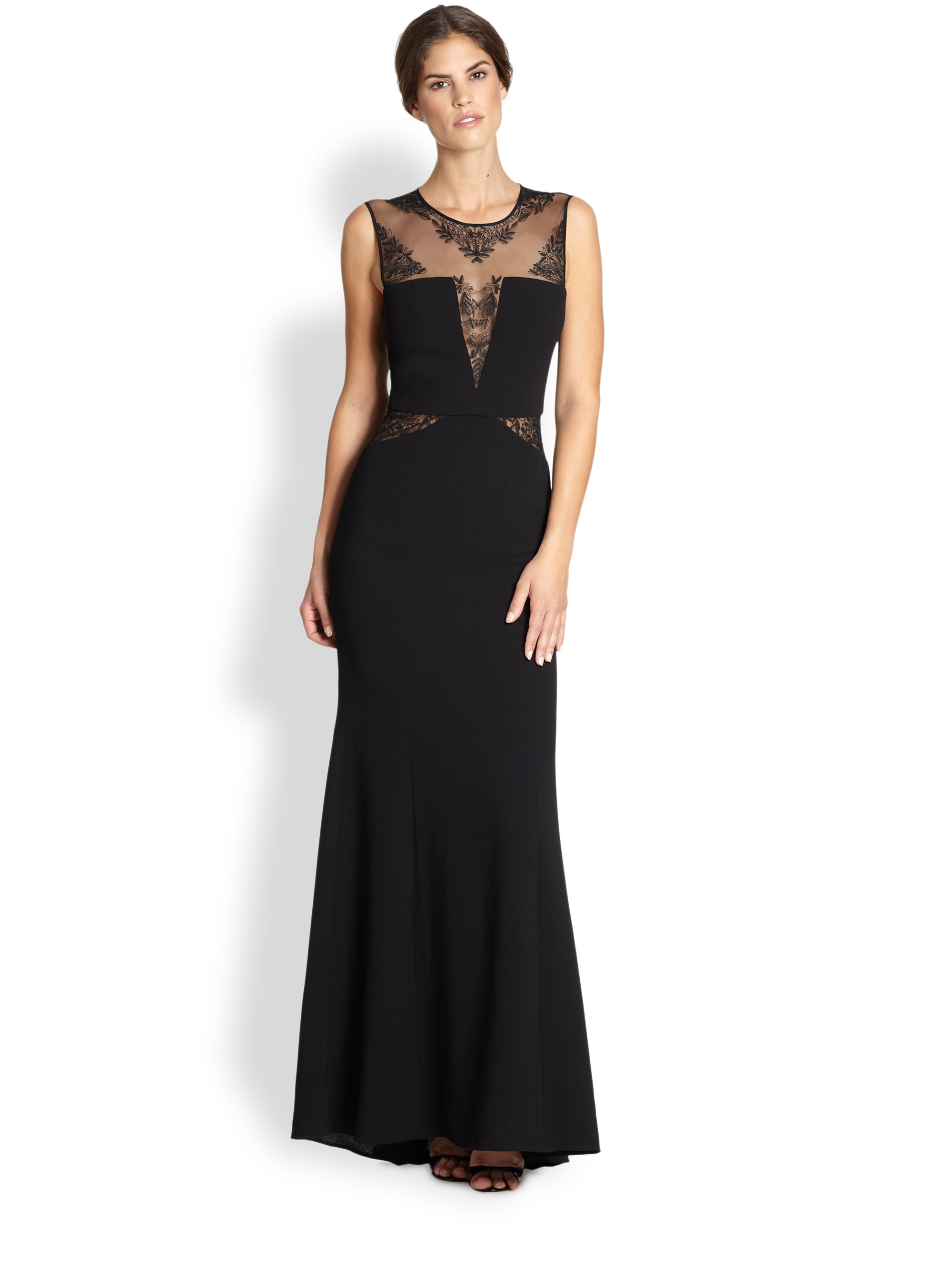 Bcbg julia fitted lace back dress