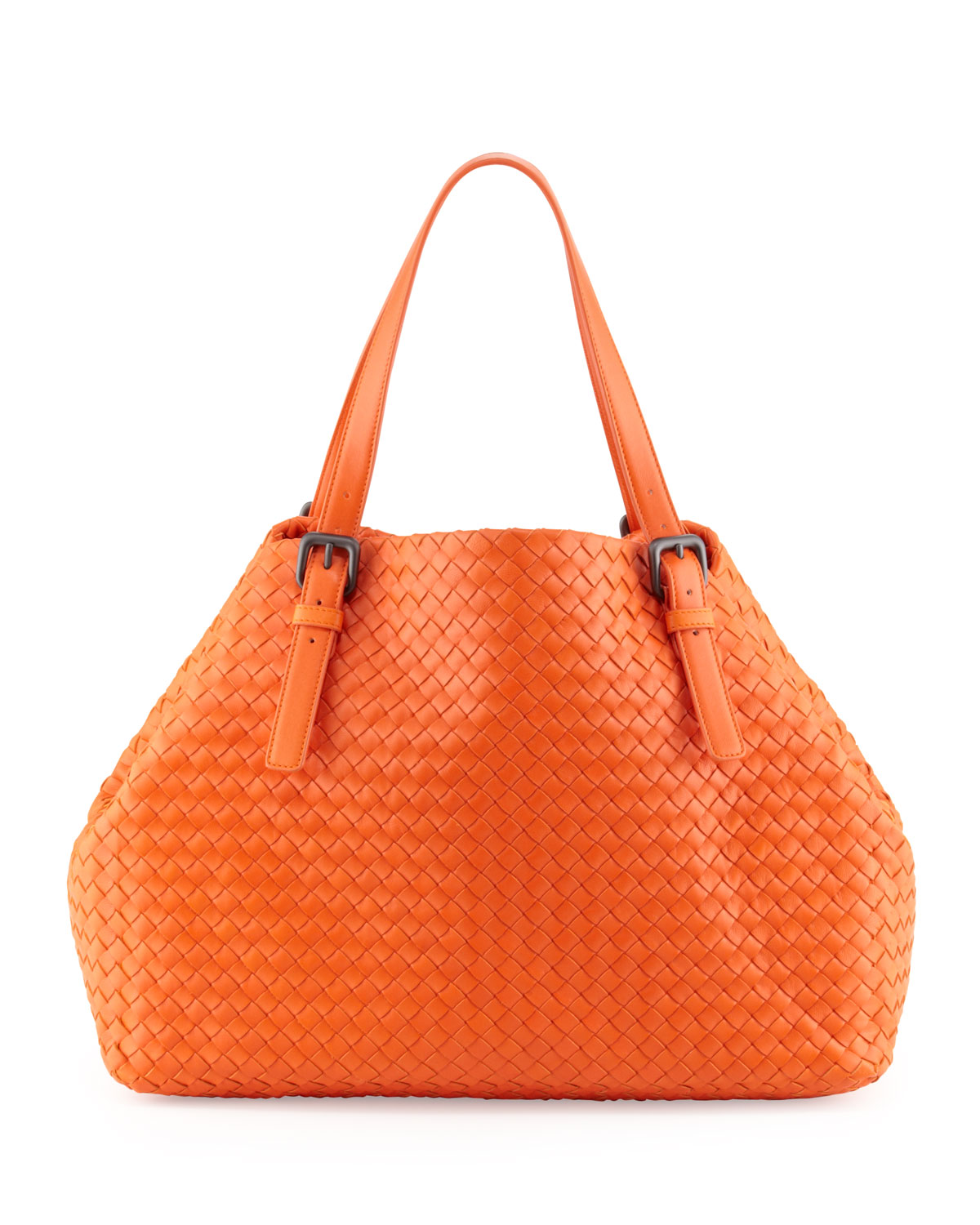 29160aa673d5 Large Leather Bag Tangerine Orange Lamb Leather by
