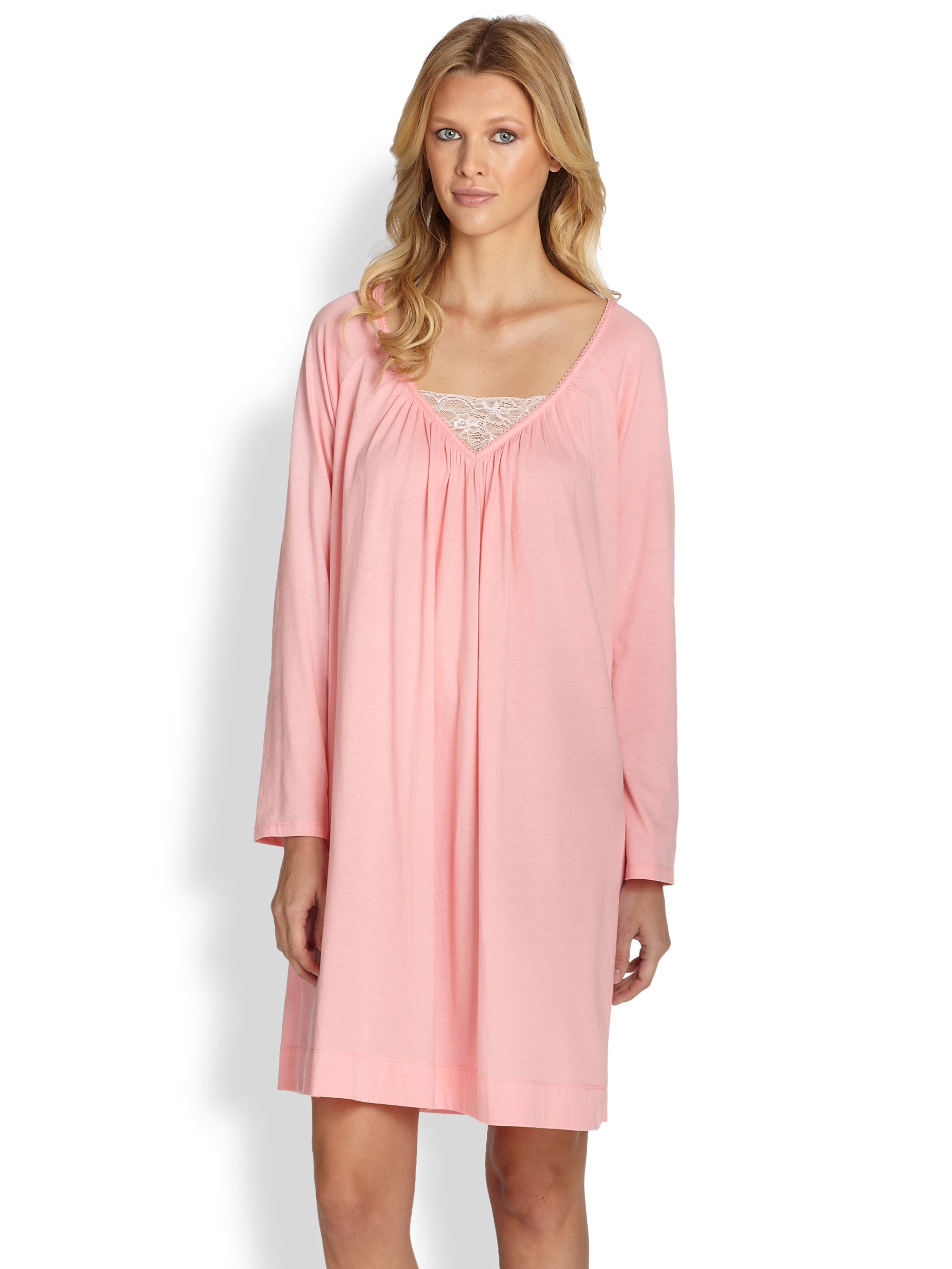 a5b2b1ba8e Cottonista  cheap for discount 396a9 450b8 Cottonista Pima Cotton Knit Gown  in Pink - Lyst ...