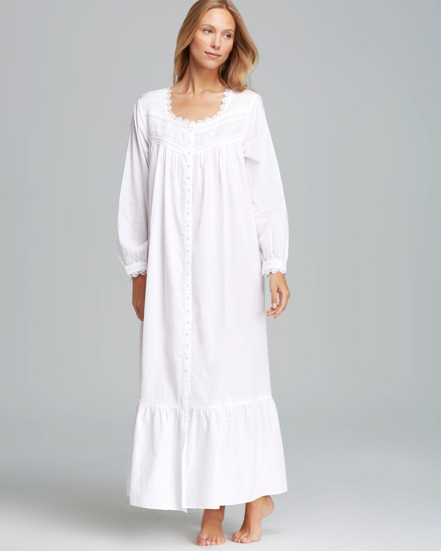 Lyst - Eileen West Bellisima Long Sleeve Ballet Gown in White 4b8819fa9