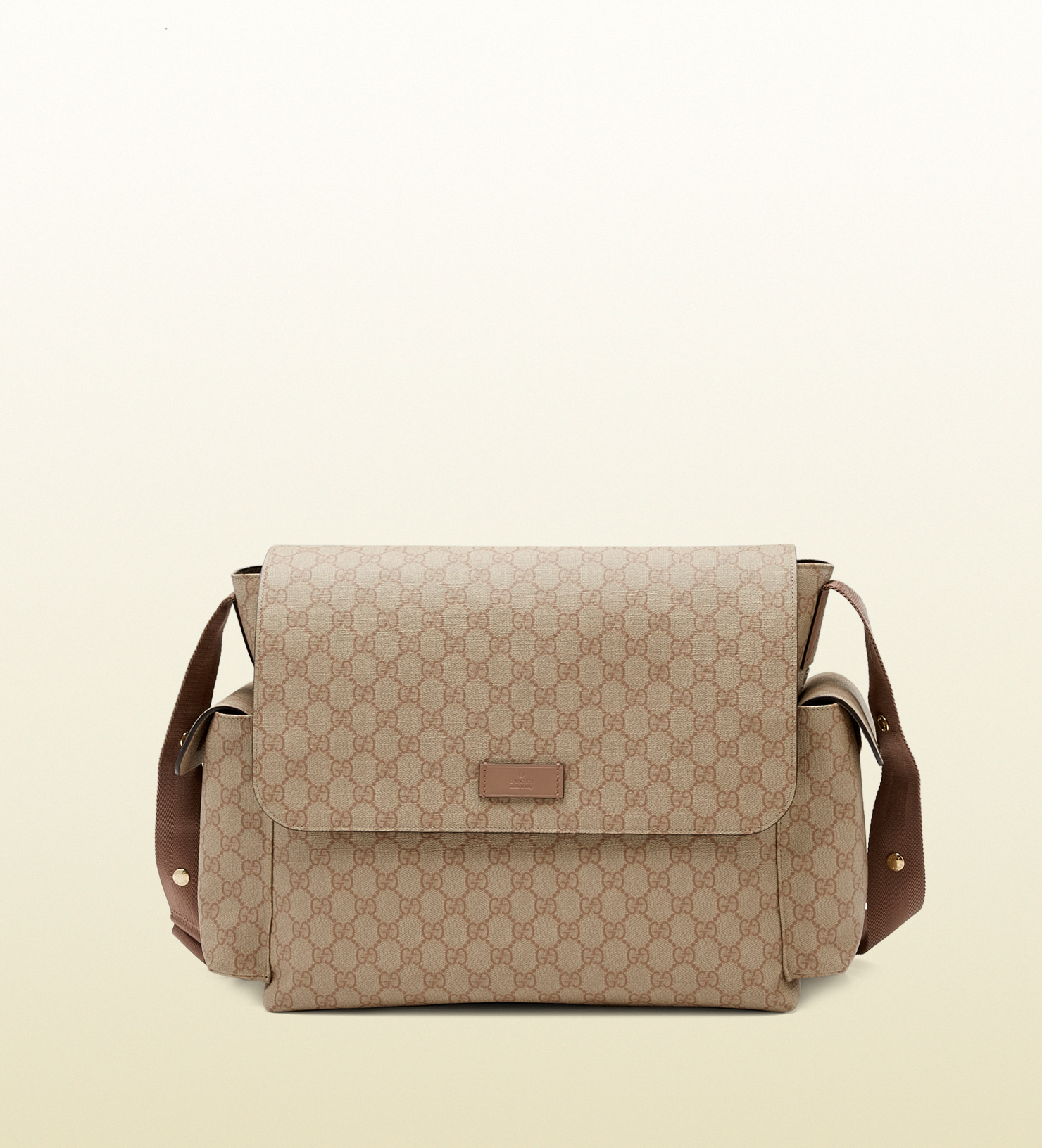2bd28afb80a Lyst - Gucci Gg Supreme Canvas Messenger Diaper Bag in Natural for Men