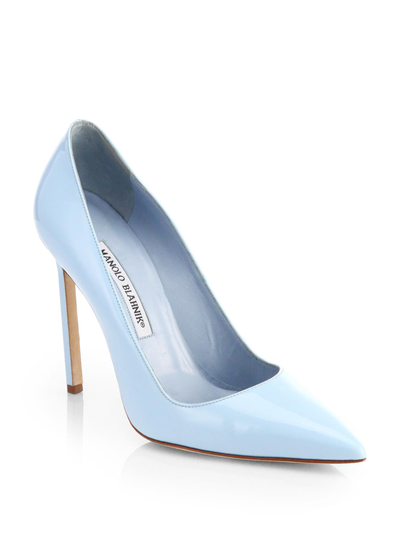 Lyst Manolo Blahnik Bb Patent Leather Pumps In Blue
