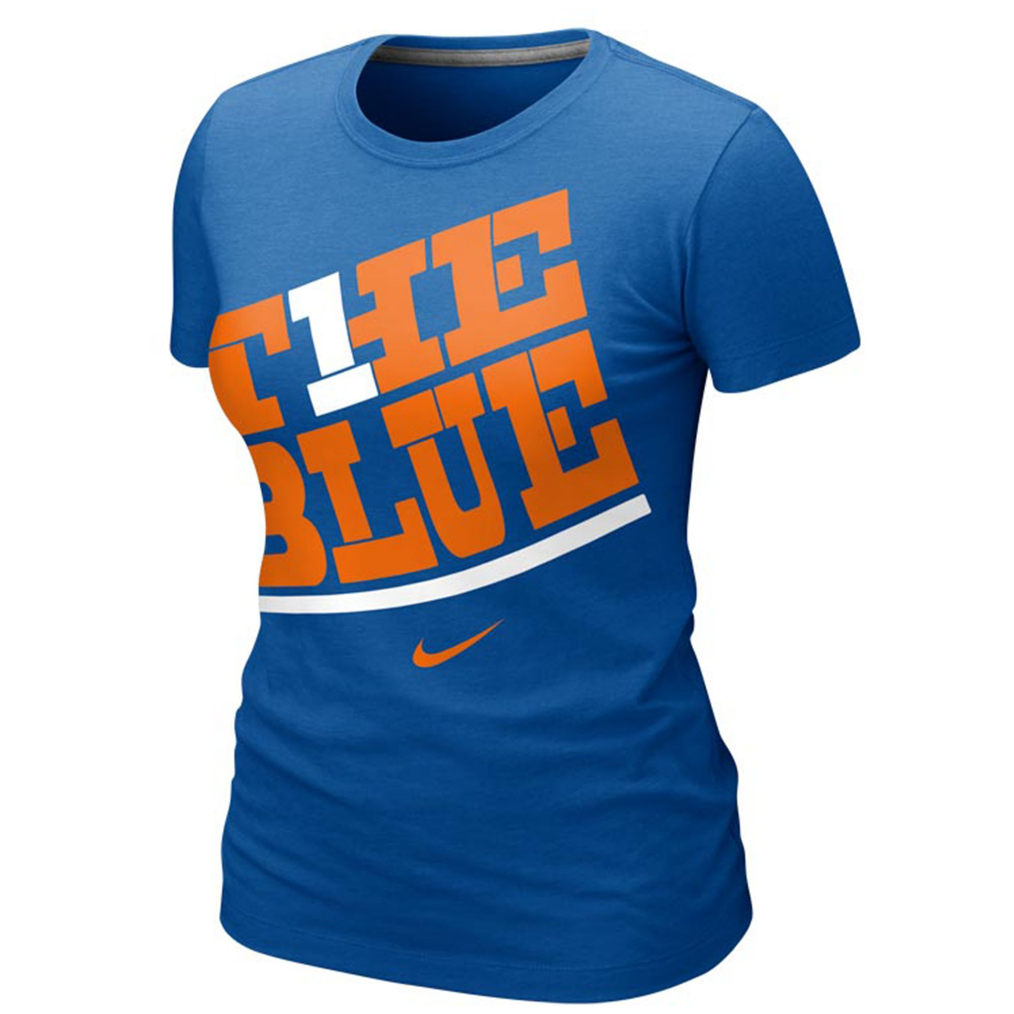 Nike short sleeve boise state broncos t shirt in blue for Boise t shirt printing