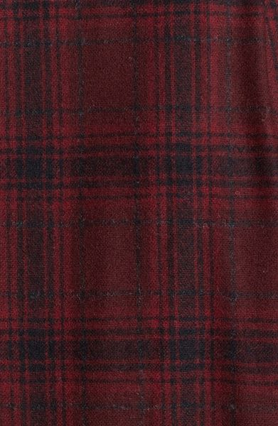 Pendleton Lodge Fitted Plaid Wool Flannel Shirt In Purple