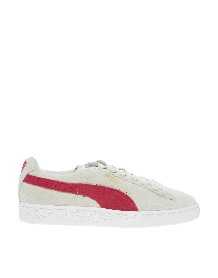 puma suede grey red