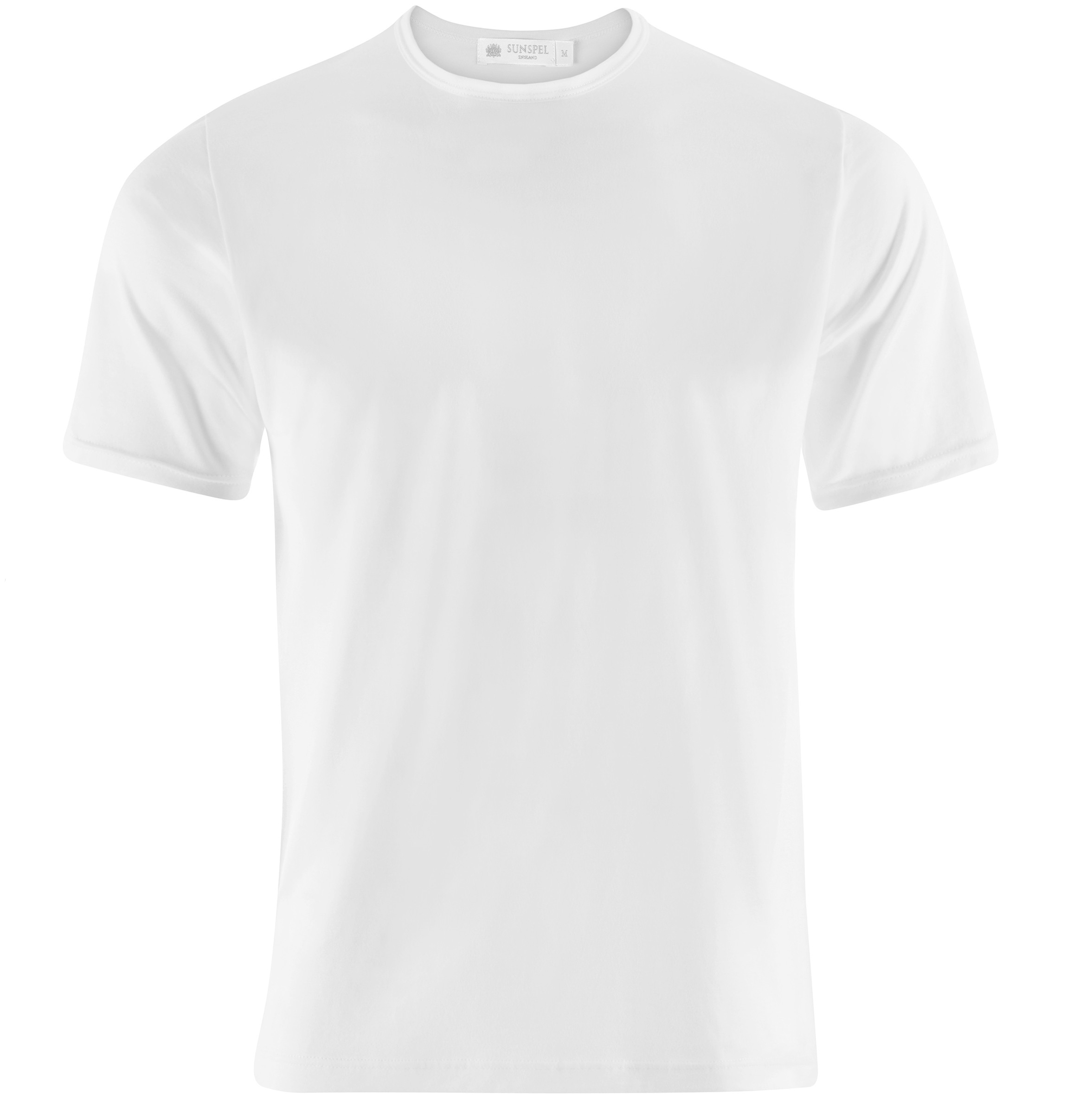 Sunspel superfine crew underwear t shirt in white for men for Tee shirts and more