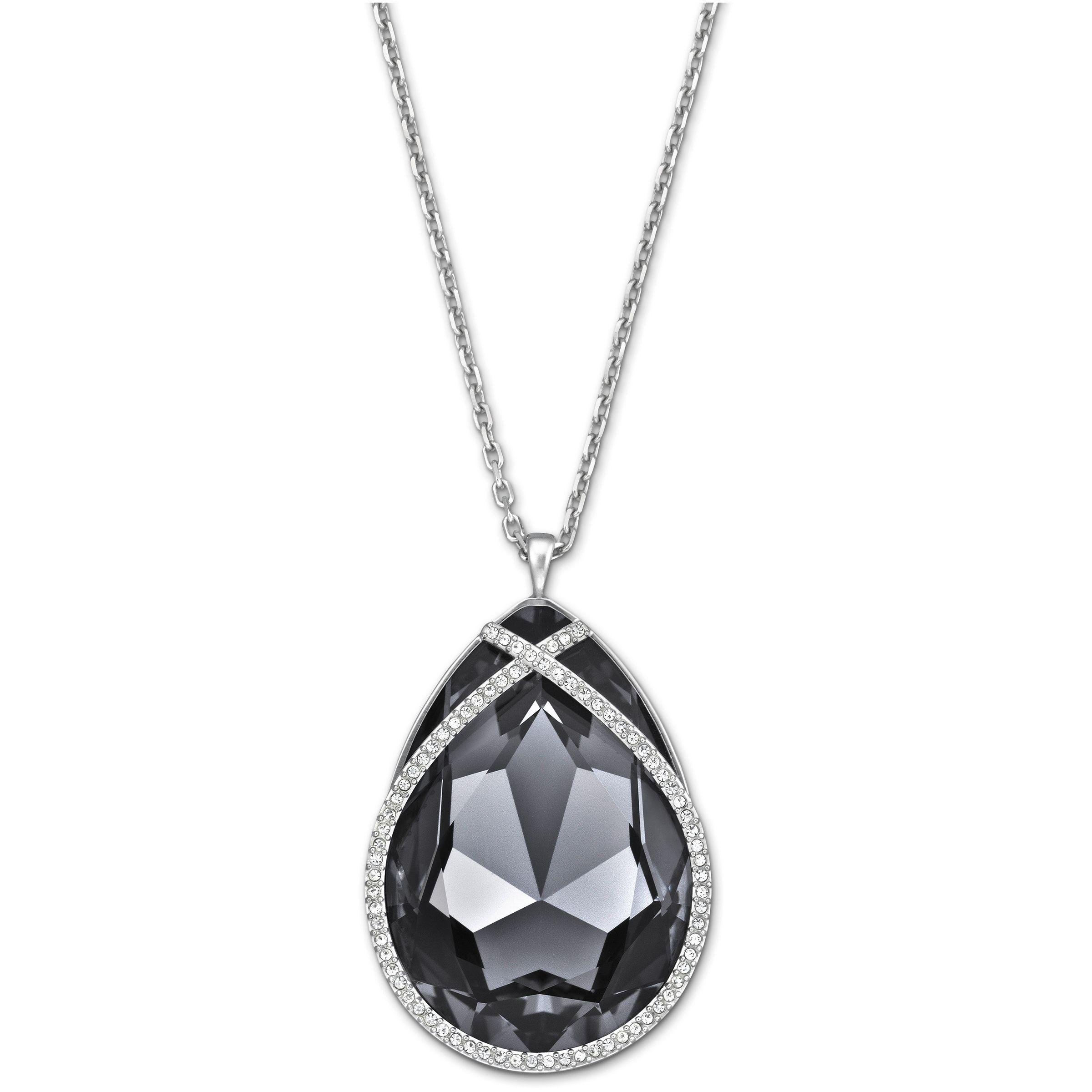 swarovski pendant in black lyst
