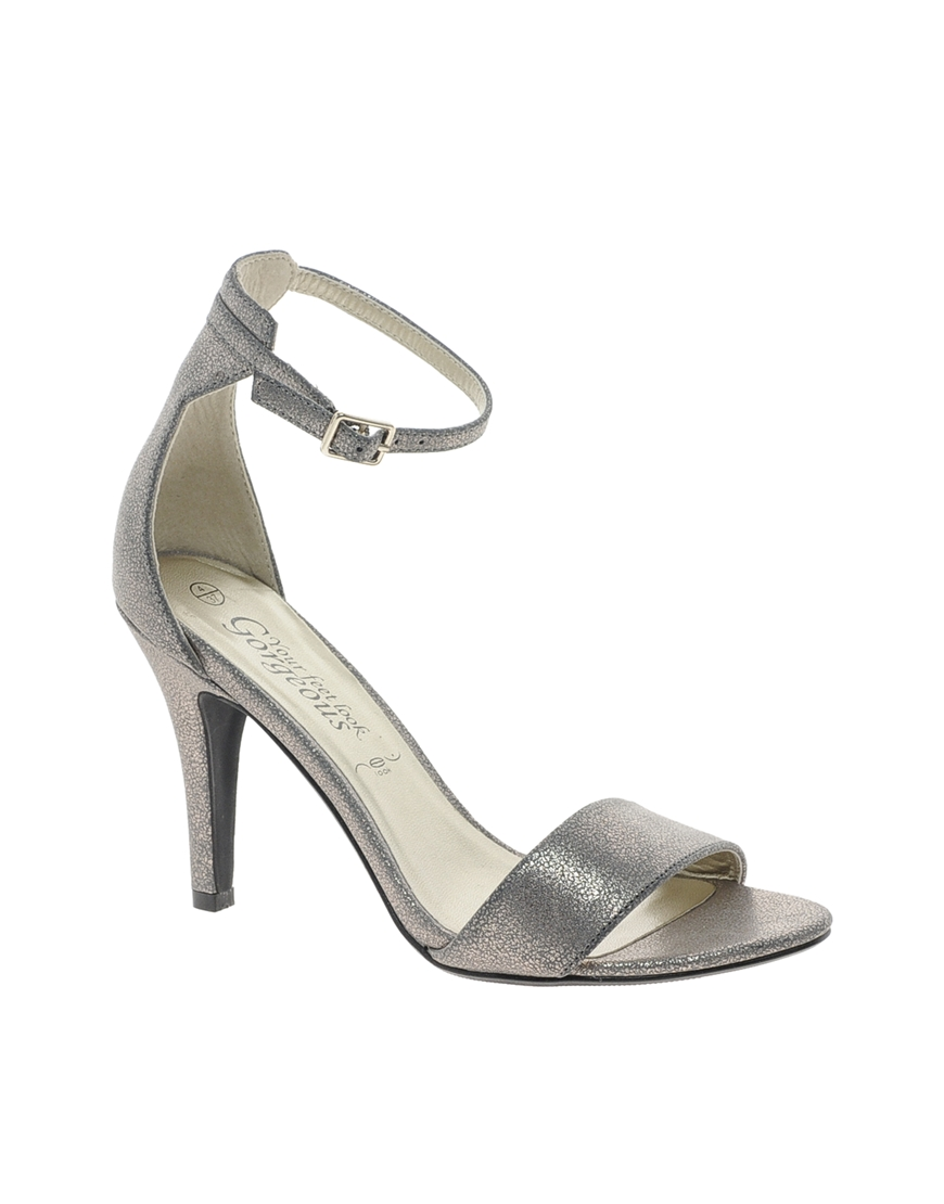 price reduced where to buy shades of ASOS New Look Silver Stylish 3 Single Sole Strap Sandals in ...