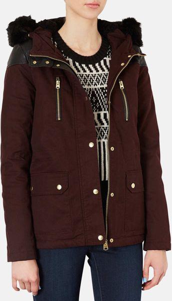 Burgundy Parka Jacket Womens - JacketIn