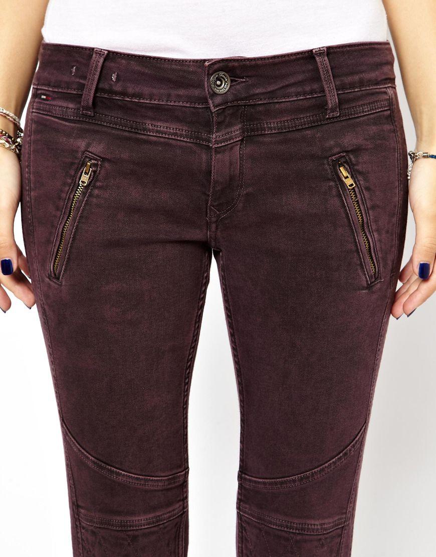 verkossa täällä tarjoavat alennuksia kuuluisa merkki Hilfiger Denim Sophie Biker Jeans