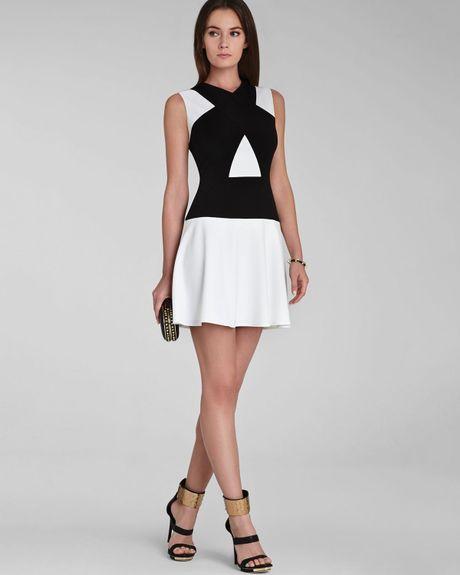 Color Block Dresses Black And White Dress Aloissa Color Block