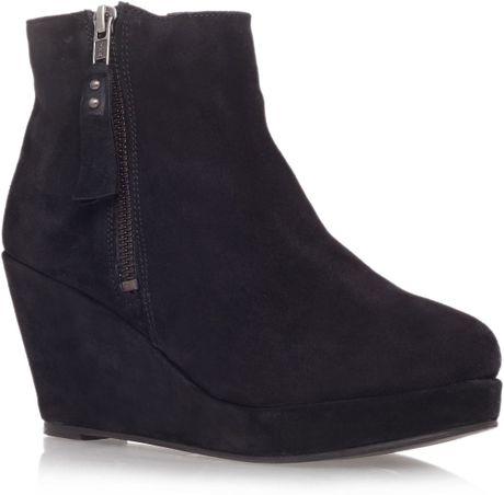 carvela kurt geiger kaitlyn mid heel wedge ankle boots in