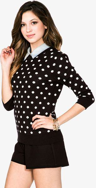 Share Polka Dot Sweater in Ivory & Black on Pinterest (opens in a new window) Share Polka Dot Sweater in Ivory & Black on Google (opens in a new window) Polka Dot Sweater MAJORELLE MAJORELLE $ Or 4 installments of $ by afterpay.