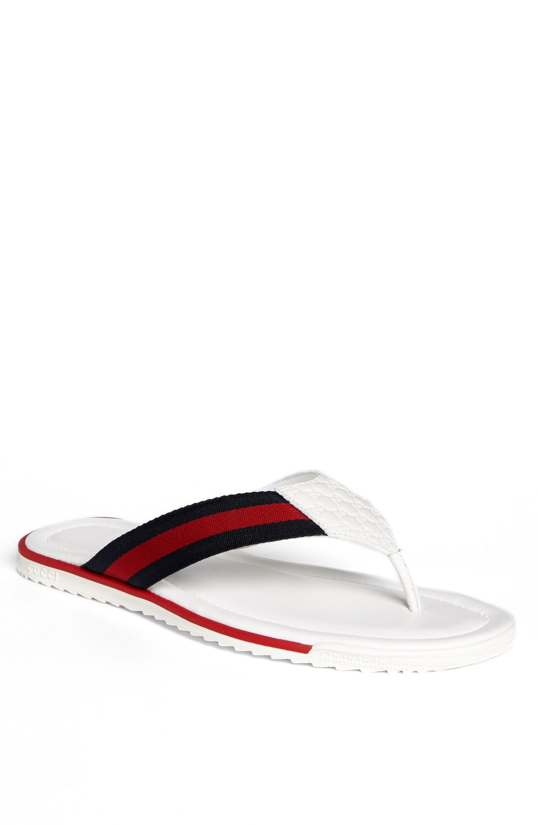 how to clean white gucci flip flops