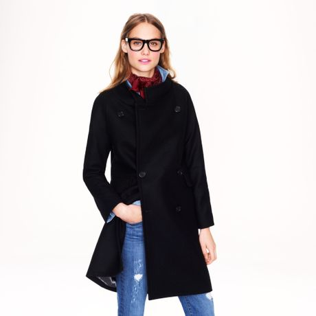 J Crew Double Breasted Cocoon Coat In Wool Cashmere In