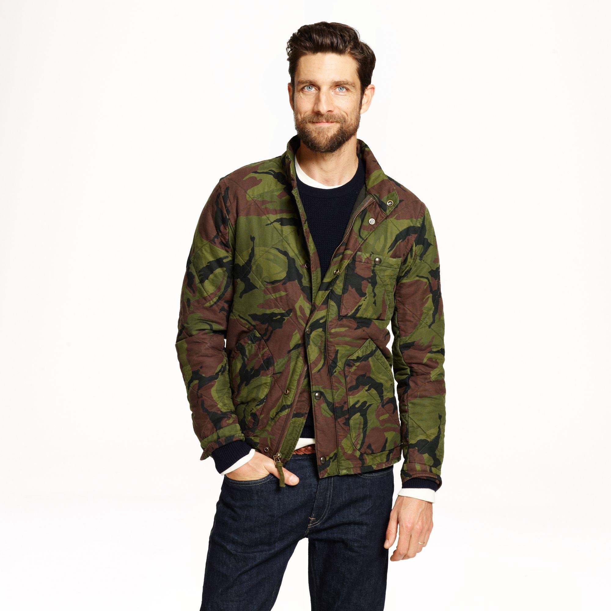 J Crew Broadmoor Quilted Jacket In Camo For Men Lyst