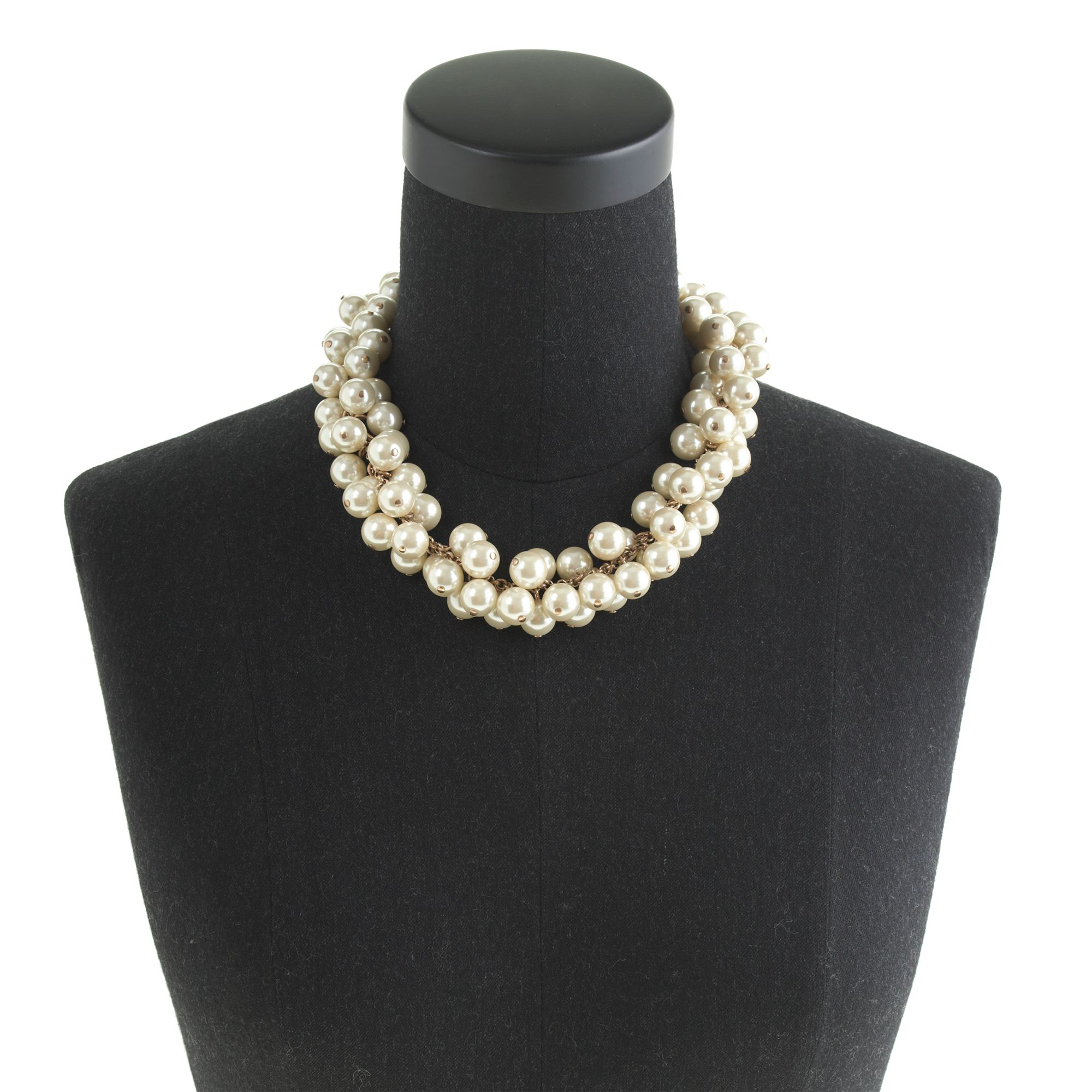J.Crew Pearl Cluster Necklace in White