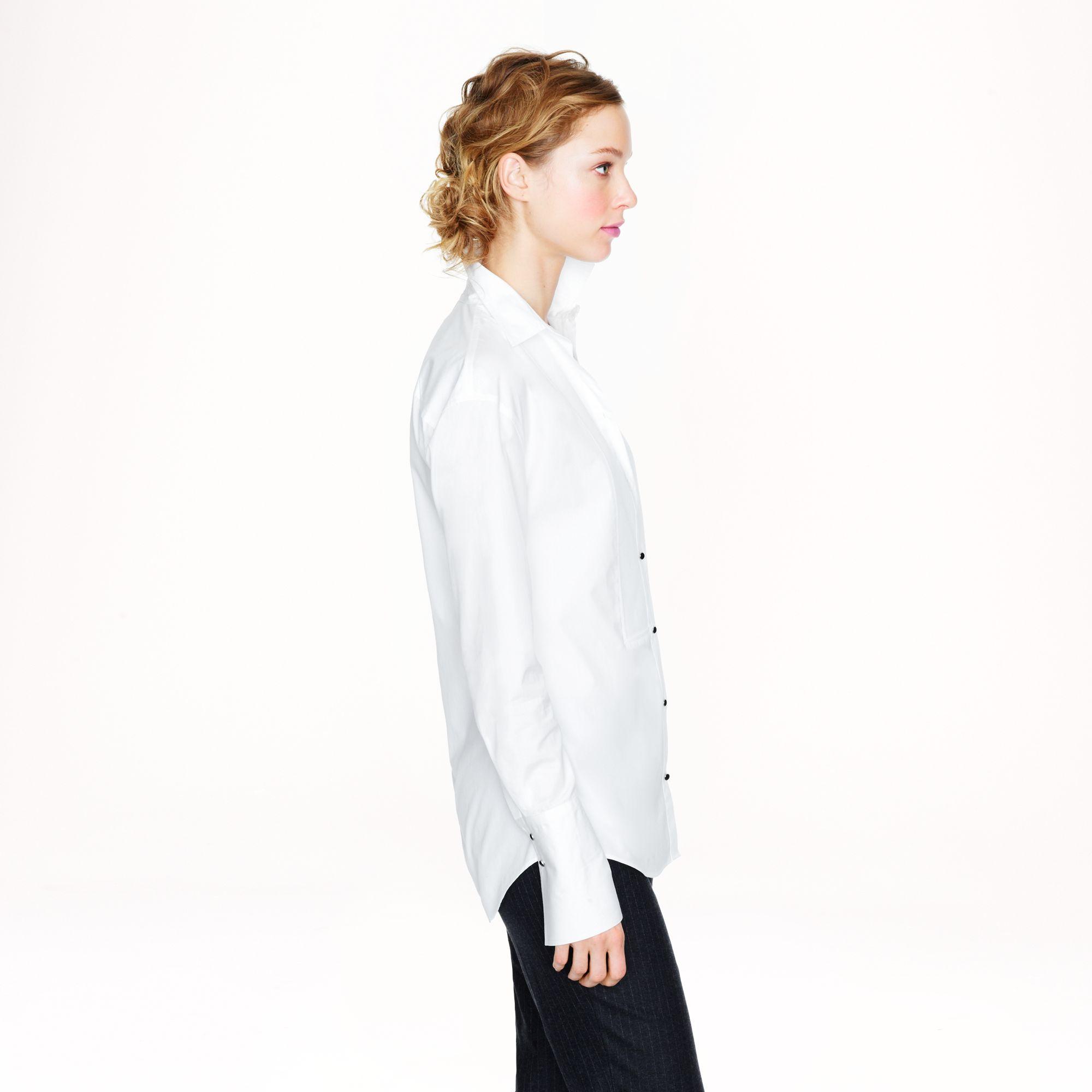 Lyst - J.Crew Thomas Mason For Long Tuxedo Shirt in White 61426ec5d